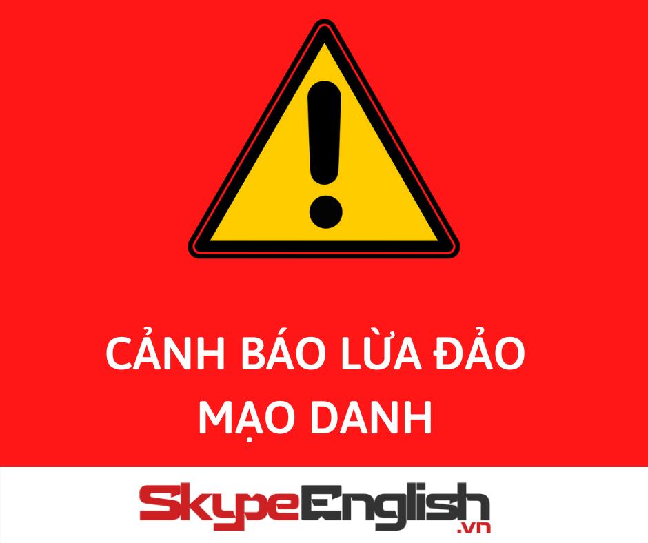 mạo danh skype english để lừa đảo